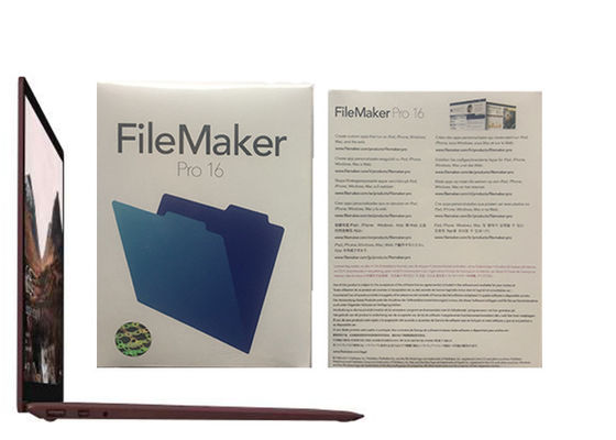 Çin Filemaker Pro İlişkiler Pro 16 HL2C2ZM / A Filemaker Pro Windows Fabrika
